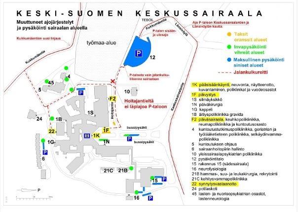 Sairaala Novan liikennejärjestelyt
