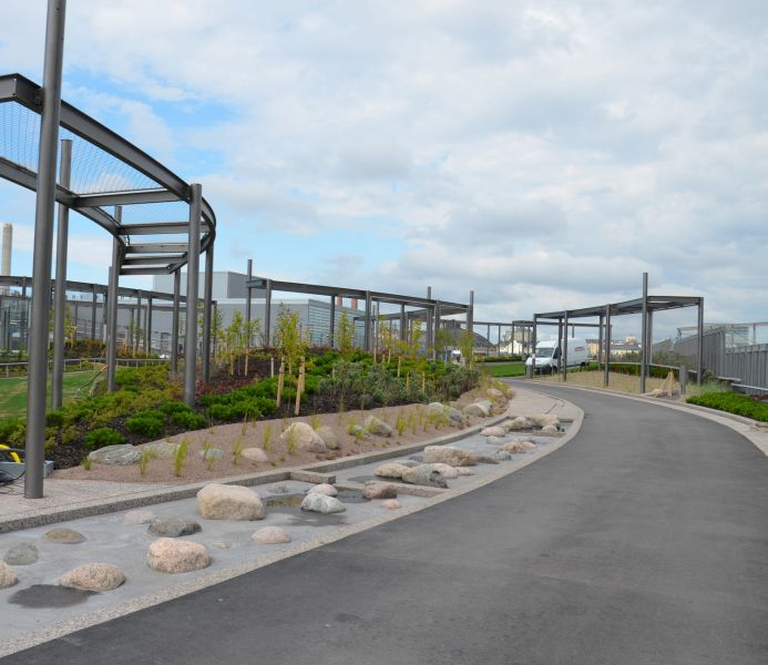 REDIn päälle rakennetusta puistosta tuli Bryga