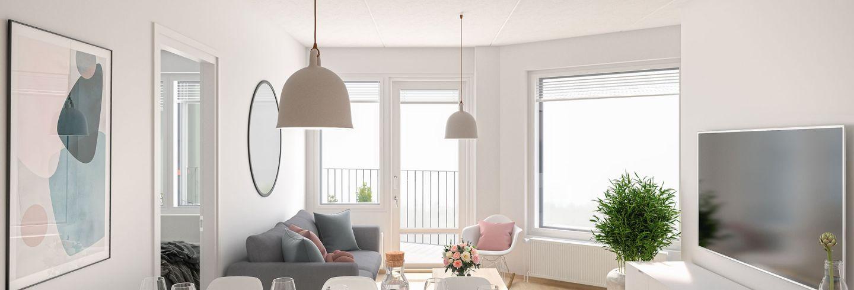 Ajatuksella valittu sisustus tekee asunnosta kodin