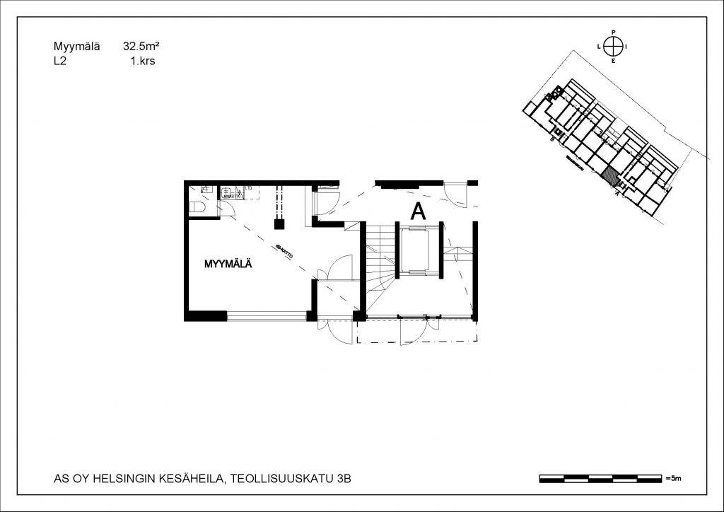 Kesäheila myymälä L2 32,5 m2 1. krs