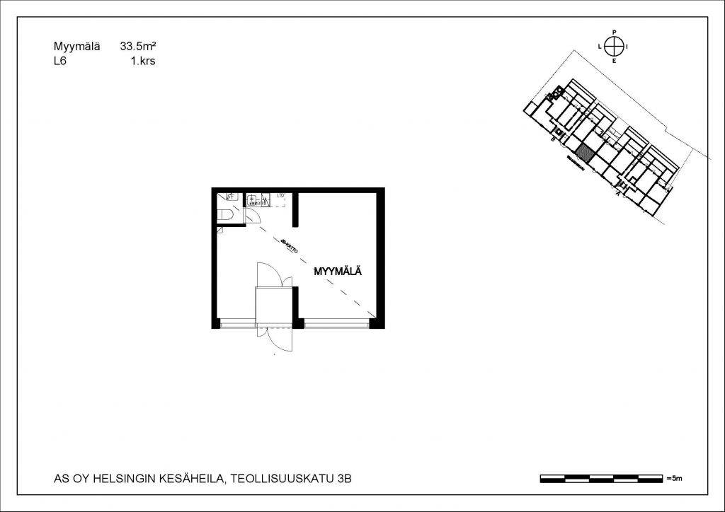 Kesäheila myymälä L6 33,5 m2 1. krs