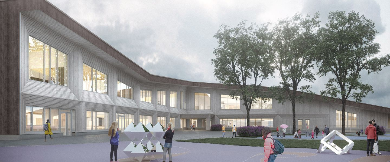 Suomalais-venäläiselle koululle uudisrakennus puusta