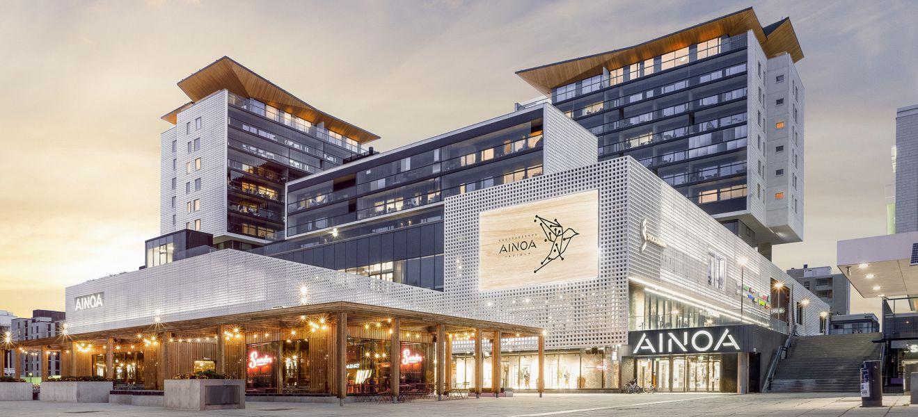 Kauppakeskus AINOAn laajennus avautuu tänään Tapiolassa