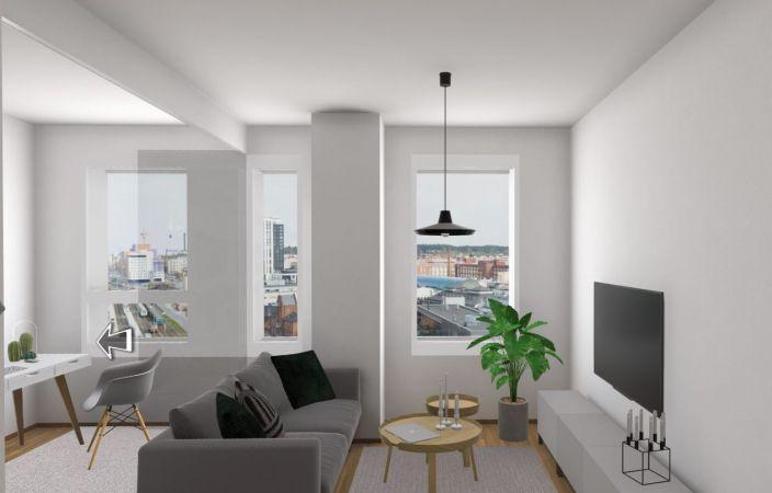 Tutustu virtuaalisesti asuntoon A30, 2h+KT, 43,5 m2