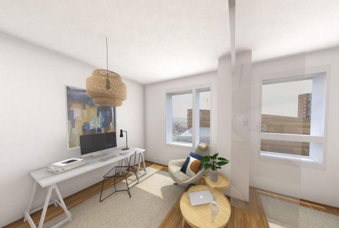 Tutustu virtuaalisesti asuntoon A36, 1h+KT, 34 m2