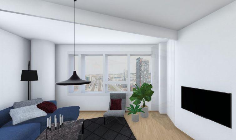 Tutustu virtuaalisesti asuntoon A54, 3h+KT+S, 76 m2