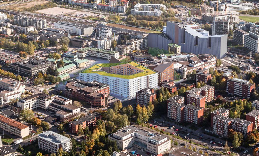 Vihreä keidas katolla puhdistaa ilmaa ja luo kaupungeissa elinympäristöjä kasveille ja eläimille